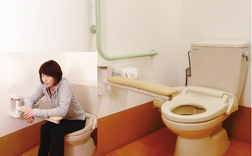 トイレへの支持用具・手すり設置