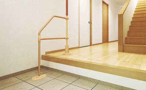 立上り補助・階段・廊下・出入口の安全 バリアフリーのための家具や設備