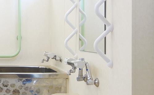 浴室への支持用具・手すり設置