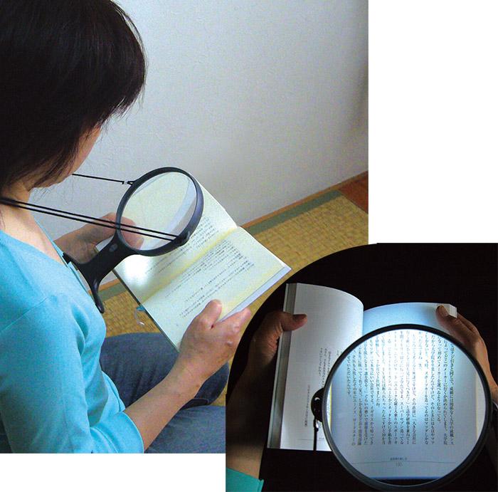 LEDライト付ルーペ