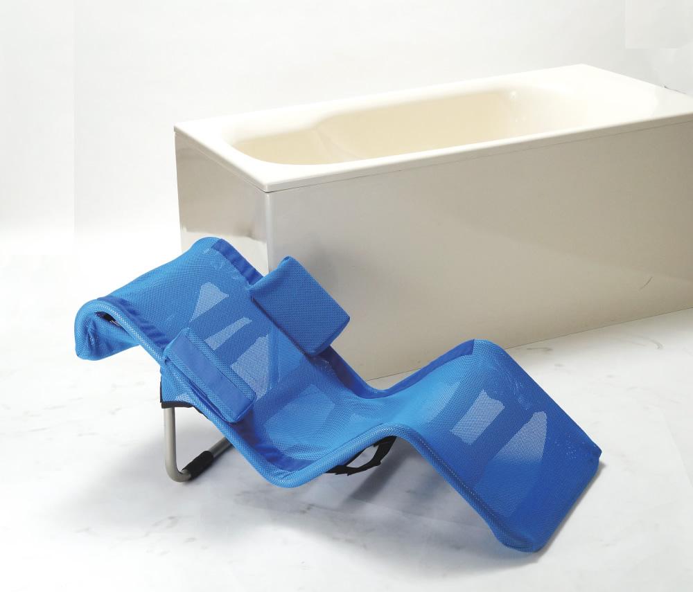 天井走行リフト、床走行リフトでの入浴に適した入浴担架です