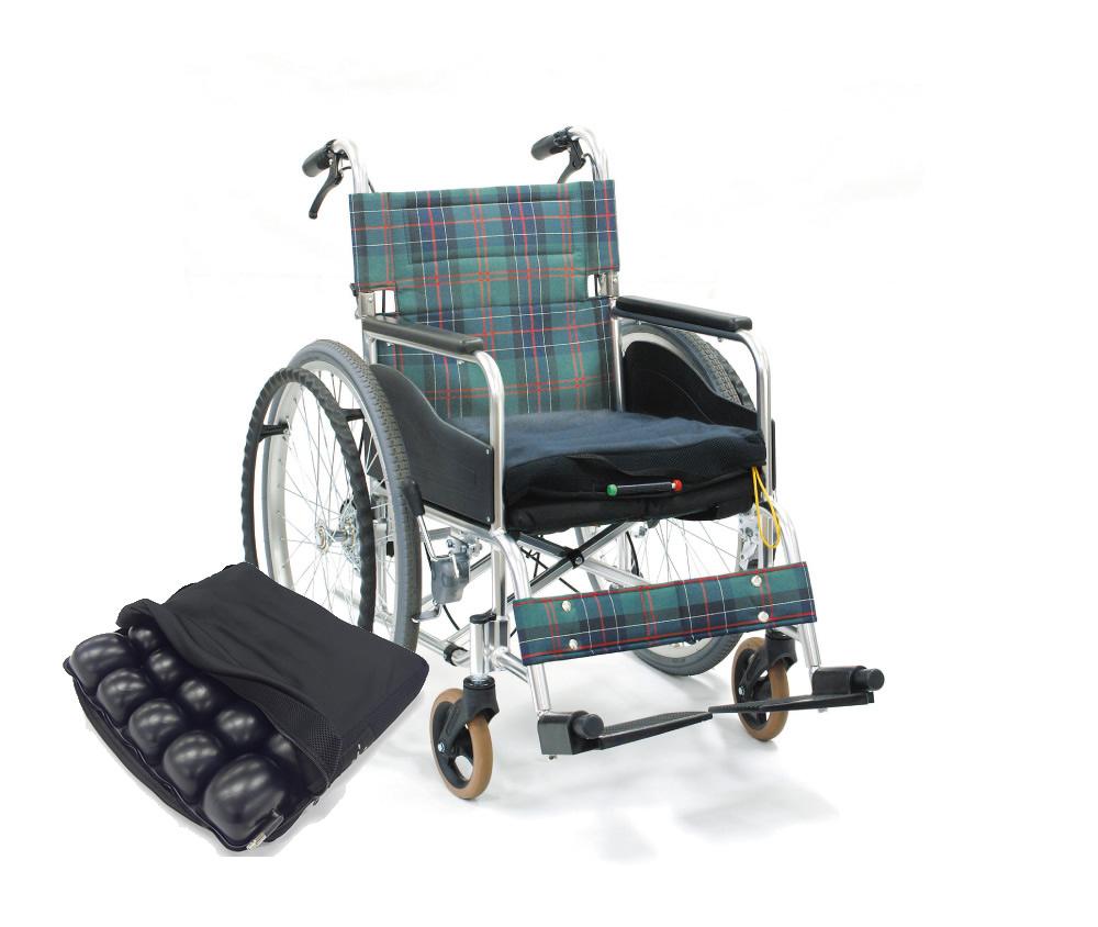 転倒防止装置付自操型車いす ロホモザイククッション付