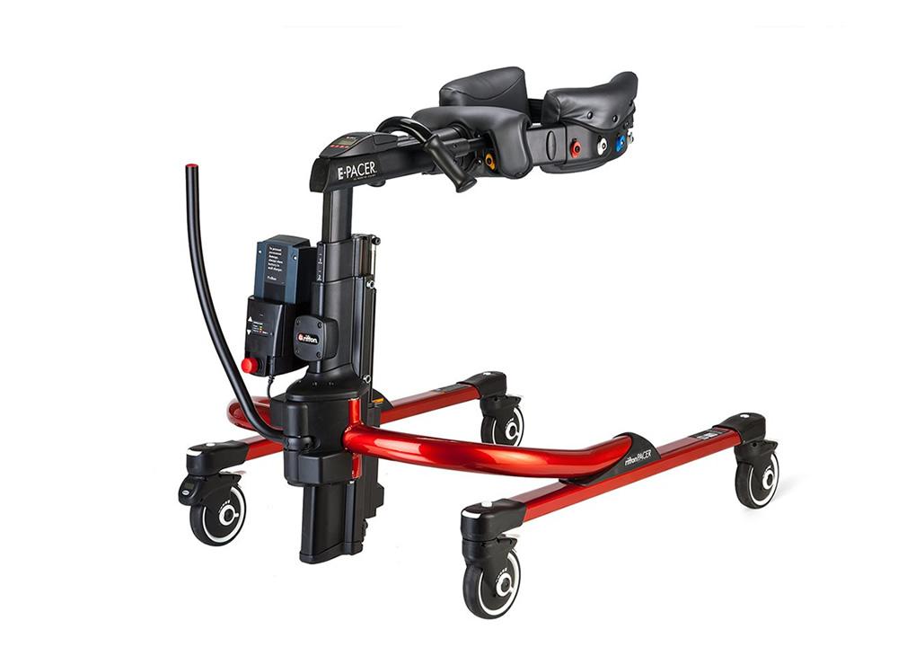 電動リフト機能が追加された歩行訓練車ペーサー(電動)