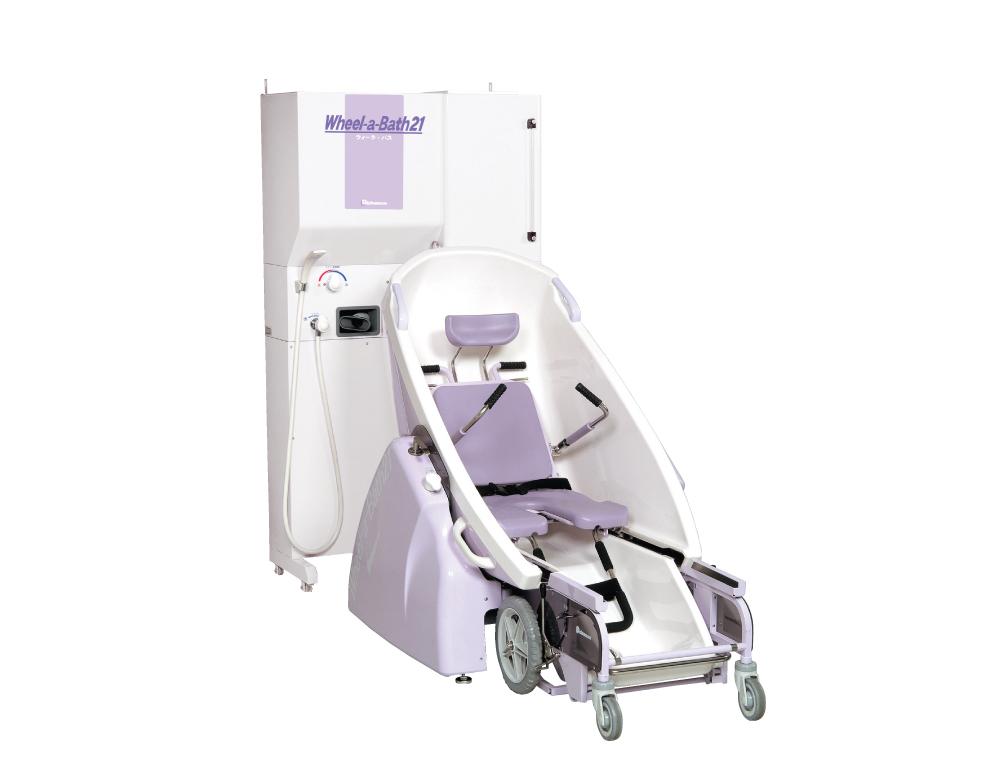 介護浴槽 ウィーラバス21 専用車椅子に乗ったまま入浴が出来る特殊介護浴槽