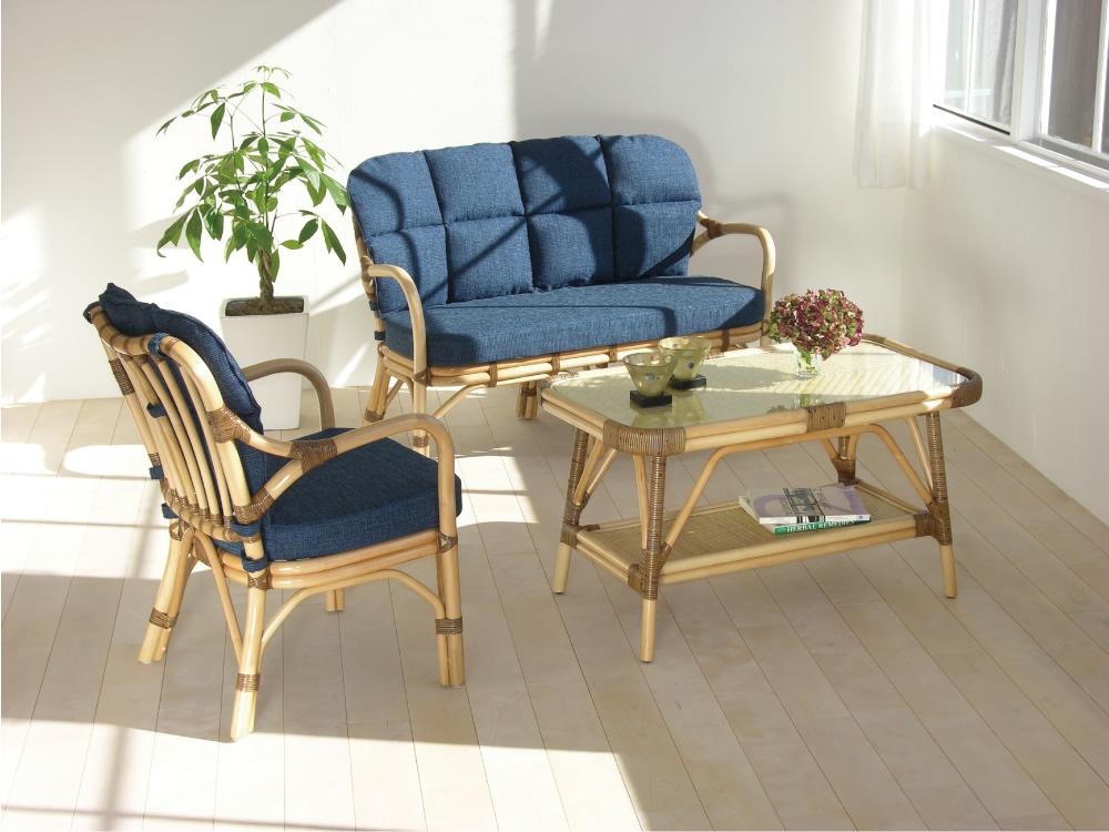 ラタン椅子使用例(ソファーとテーブルは含まれません)