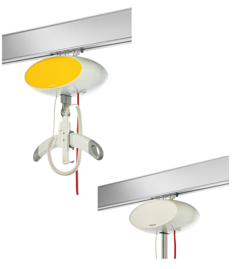 天井走行リフト グルドマン 上 GH1 側面カバー黄色、上 GH1 側面カバー白色