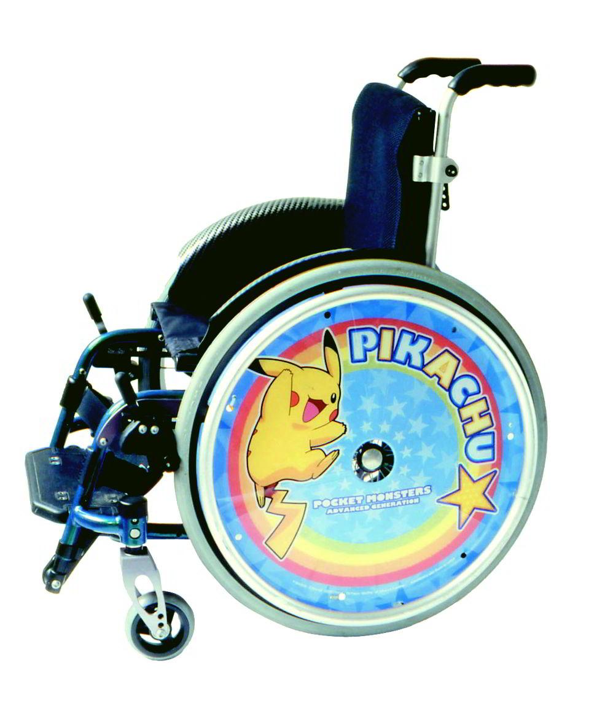 子供用車いすスポークカバー ピカチュウ