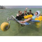 バリアフリービーチのための水上車いす ウォーターウィール